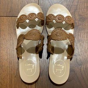 Jack Rogers - Lauren sandal - Cognac - Like new!